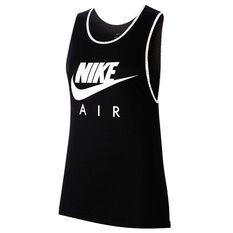 Nike Air Womens Running Tank Black XS, Black, rebel_hi-res
