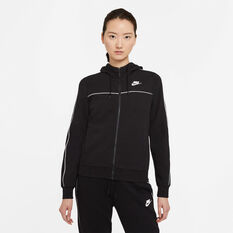 Nike Womens Sportswear Full Zip Hoodie Black XS, Black, rebel_hi-res