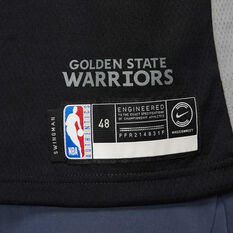 Nike Golden State Warriors Steph Curry 2019/20 Mens City Edition Jersey, Black, rebel_hi-res