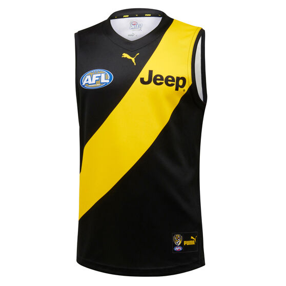 Richmond Tigers 2020 Mens Home Guernsey, Black / Yellow, rebel_hi-res