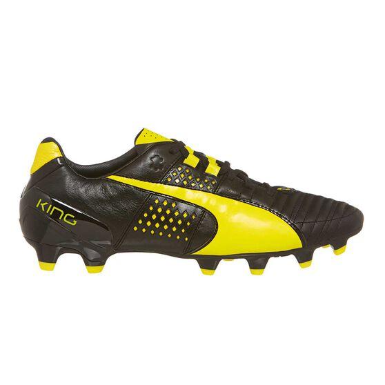 Puma Spirit II FG Mens Football Boots, Black / Yellow, rebel_hi-res