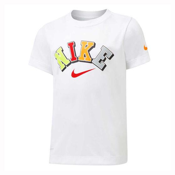Nike Dri-FIT Boys Collegiate Tee, White, rebel_hi-res