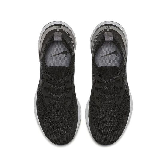 Nike Epic React Flyknit Womens Running Shoes, Black / White, rebel_hi-res