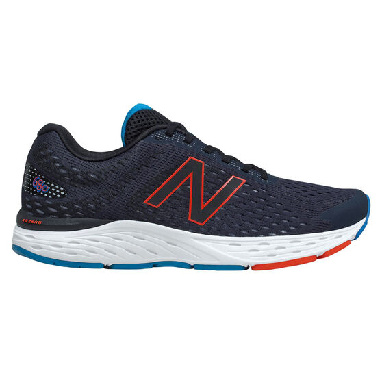 New Balance 680 2E Mens Running Shoes, Navy/Red, rebel_hi-res