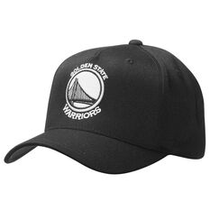 Mitchell and Ness Golden State Warriors BNW Logo 110 Cap Black OSFA, , rebel_hi-res