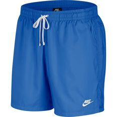 Nike Mens Sportswear Woven Flow Shorts, Blue / White, rebel_hi-res