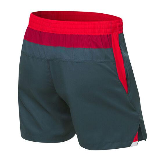 St George Illawarra Dragons 2021 Mens Training Shorts, Grey, rebel_hi-res