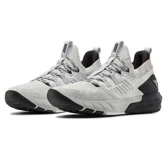 Under Armour Project Rock 3 Mens Training Shoes, Grey/Black, rebel_hi-res