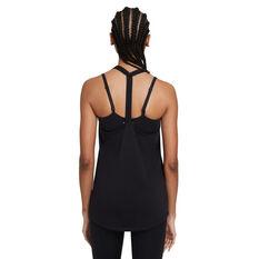 Nike Womens Dri-FIT Training Tank Black XS, Black, rebel_hi-res