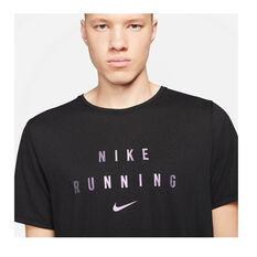 Nike Mens Dri-FIT Run Division Tee, Black, rebel_hi-res