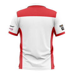 St George Illawarra Dragons 2019 Mens Media Polo White / Red S, White / Red, rebel_hi-res