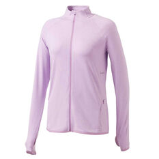 Ell & Voo Womens Amelia Full Zip Top Purple XS, Purple, rebel_hi-res