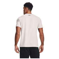 Under Armour Mens Project Rock Brahma Bull Tee White XS, White, rebel_hi-res