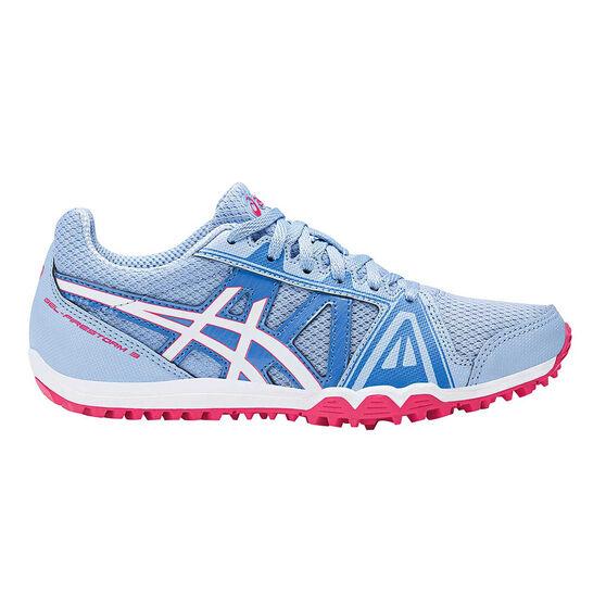 Asics GEL Firestorm 3 Junior Track Shoes Blue / White US 1, Blue / White, rebel_hi-res