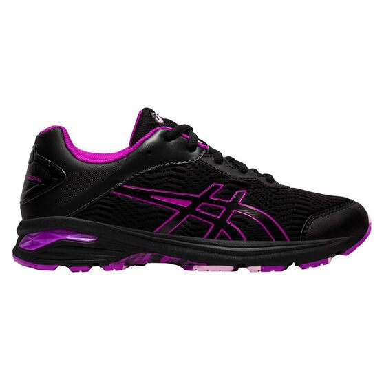 Asics GEL Netburner Professional 2 Girls Netball Shoes, Black / Purple, rebel_hi-res