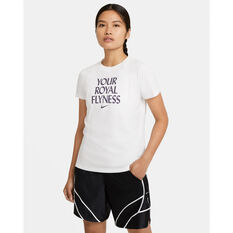 Nike Womens Dri-FIT Royal Flyness Basketball Tee White XS, White, rebel_hi-res
