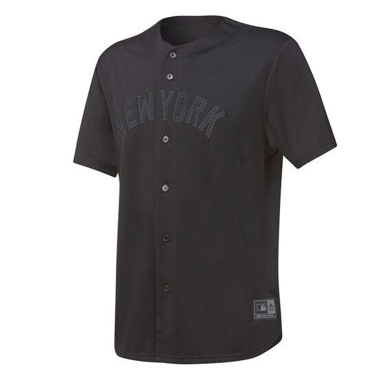 Majestic Mens New York Yankees Triple Black Replica Jersey, Black, rebel_hi-res