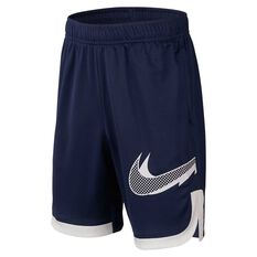 Nike Boys Graphic Training Shorts Black / White XS, , rebel_hi-res