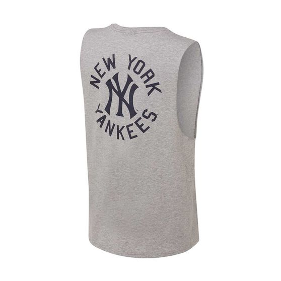 New York Yankees 2019/20 Mens Drimer Muscle Tank, Grey, rebel_hi-res