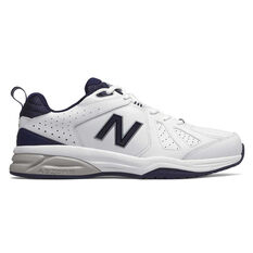 New Balance 624 V4 4E Mens Cross Training Shoes White / Navy US 7, White / Navy, rebel_hi-res