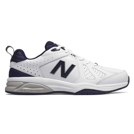 New Balance 624 V4 4E Mens Cross Training Shoes, White / Navy, rebel_hi-res