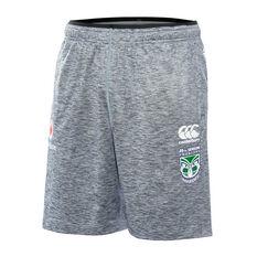 Warriors 2019 Mens Gym Shorts Grey S, Grey, rebel_hi-res