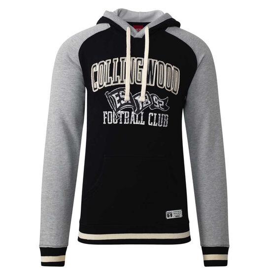 Collingwood Magpies Mens Collegiate Pullover Hoodie, Black, rebel_hi-res