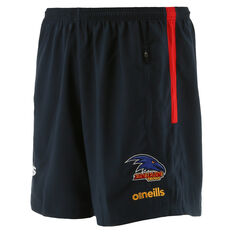Adelaide Crows 2021 Mens Liam Walk Out Shorts Blue S, Blue, rebel_hi-res