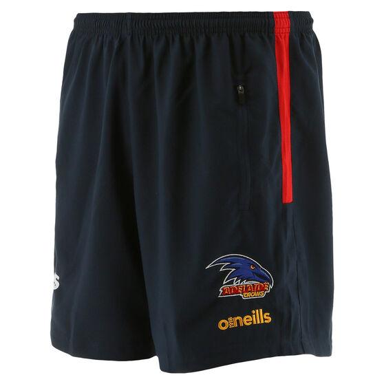 Adelaide Crows 2021 Mens Liam Walk Out Shorts, Blue, rebel_hi-res