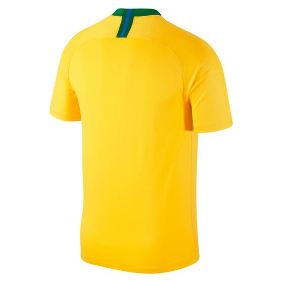 Brazil 2018 Mens Home Football Jersey, Yellow / Green, rebel_hi-res