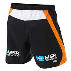 Wests Tigers 2019 Mens Training Shorts Black S, Black, rebel_hi-res