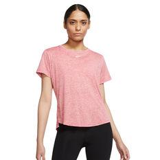 Nike Womens Dri-FIT One Standard Tee Pink 1X, Pink, rebel_hi-res