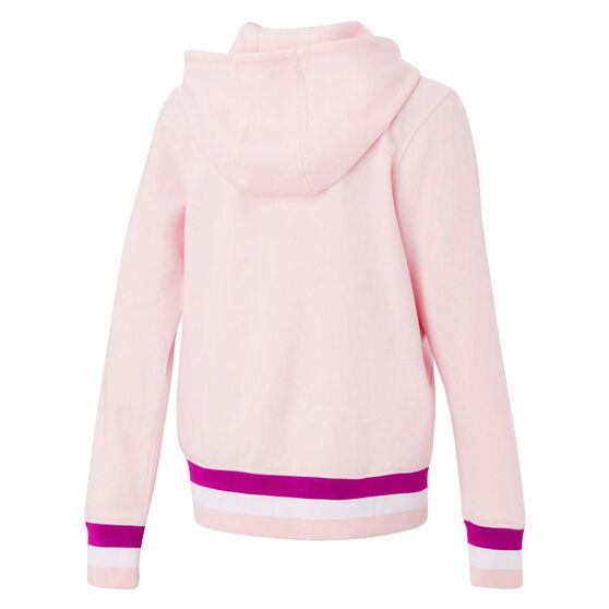 Ell & Voo Girls Harper Full Zip Fleece Hoodie, Pink, rebel_hi-res