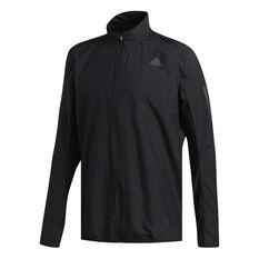 adidas Mens Response Wind Jacket Black S, Black, rebel_hi-res