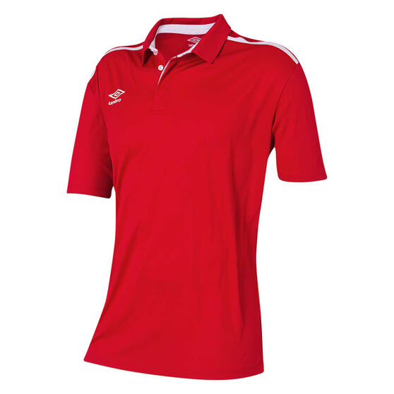Umbro Velocity Polo Shirt, Red, rebel_hi-res