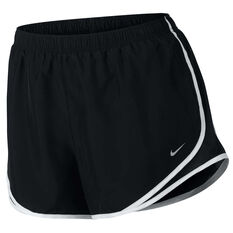 Nike Womens Tempo Running Shorts Black / White XL, Black / White, rebel_hi-res