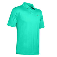 Under Armour Mens Performance Textured Polo Green S, Green, rebel_hi-res