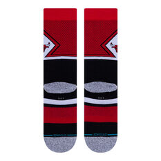 Stance Chicago Bulls 2020 Shortcut 2 Socks Red/Black L, Red/Black, rebel_hi-res