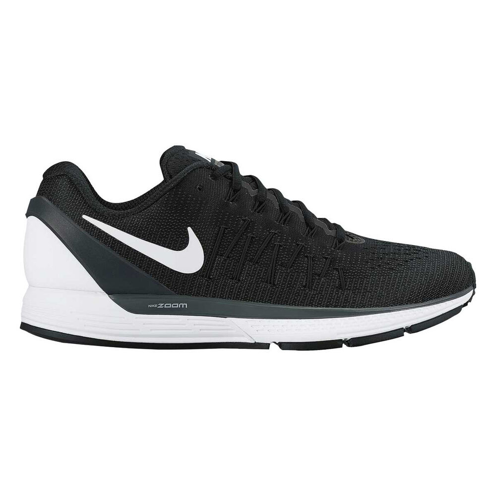 Nike Air Zoom Odyssey 2 Mens Running Shoes Black   White US 9 ... 3cee3d80b4f5