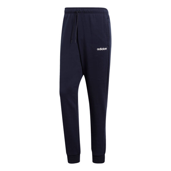 adidas Mens Essentials French Terry Tapered Track Pants, Navy, rebel_hi-res