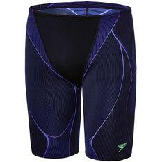 2b3202c441 Speedo Mens Kinetic Jammer Swim Shorts Black / Blue 14, Black / Blue, ...