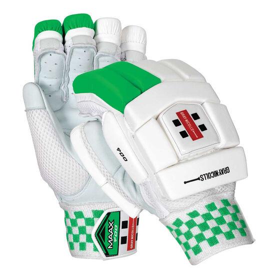 Gray Nicolls Maax 900 Cricket Batting Gloves, White / Green, rebel_hi-res