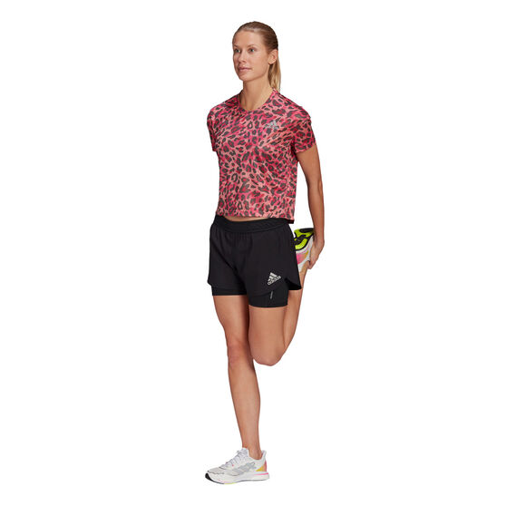 adidas Womens Primeblue 2in1 Running Shorts, Black, rebel_hi-res