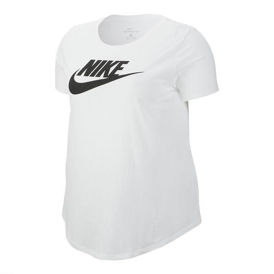 Nike Womens Sportswear Essentials Tee Plus White 2X, White, rebel_hi-res