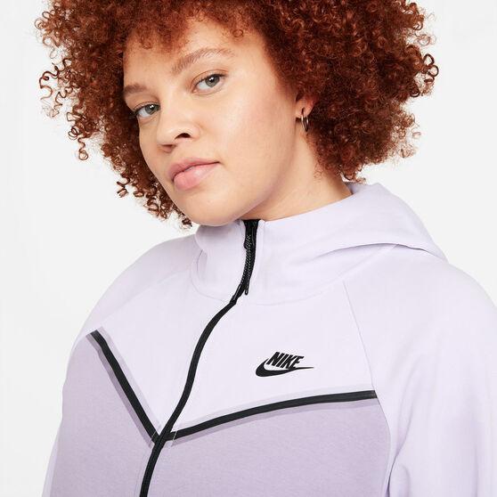 Nike Womens Windrunner Tech Fleece Full Zip Hoodie Purple M, Purple, rebel_hi-res