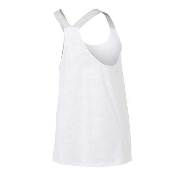Running Bare Womens Cosmic Workout Tank White 16, White, rebel_hi-res