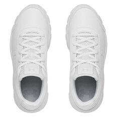 Under Armour Assert 8 Uniform Kids Running Shoes, White, rebel_hi-res