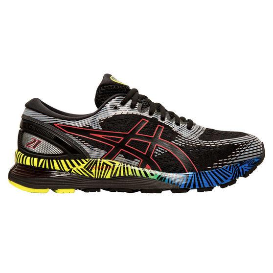 Asics GEL Nimbus 21 Liteshow 2.0 Mens Running Shoes, Black / Blue, rebel_hi-res