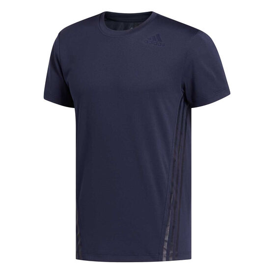 adidas Mens AEROREADY 3-Stripes Tee, Blue, rebel_hi-res