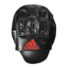 adidas Elite Focus Boxing Mitt Black / Red, , rebel_hi-res